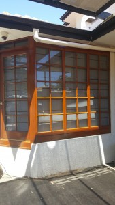 exterior window staining